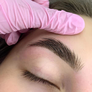 , Eyebrow tinting with Henna